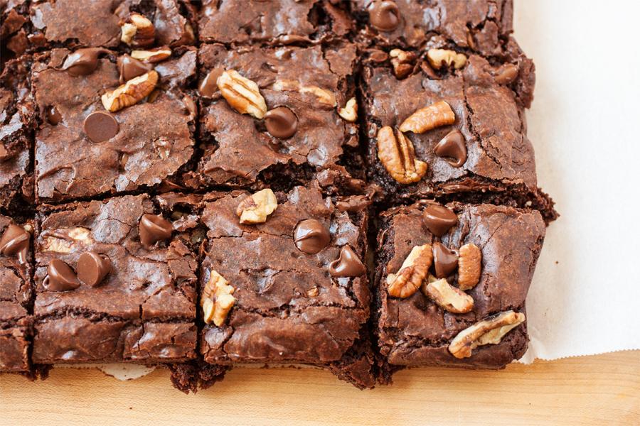 triple chocolate saucepan brownies